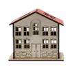 Safranbolu Evi Modelli Ahşap Kalemlik Arkadan Görünüm