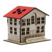 Safranbolu Evi Modelli Ahşap Kalemlik Açılı Görünüm