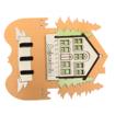 Safranbolu Evi ve Ağaç Modelli Turuncu Renkli Duvar Tipi Anahtarlık