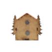 Safranbolu Evi ve Ağaç Motifli Magnetli Hediyelik Dolap Süsü Arkadan Görünüm